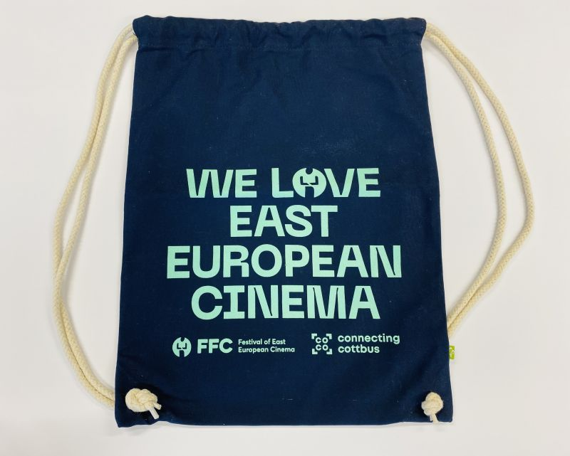 "Gymbag ""WE LOVE EAST EUROPEAN CINEMA"" - dunkelblau"