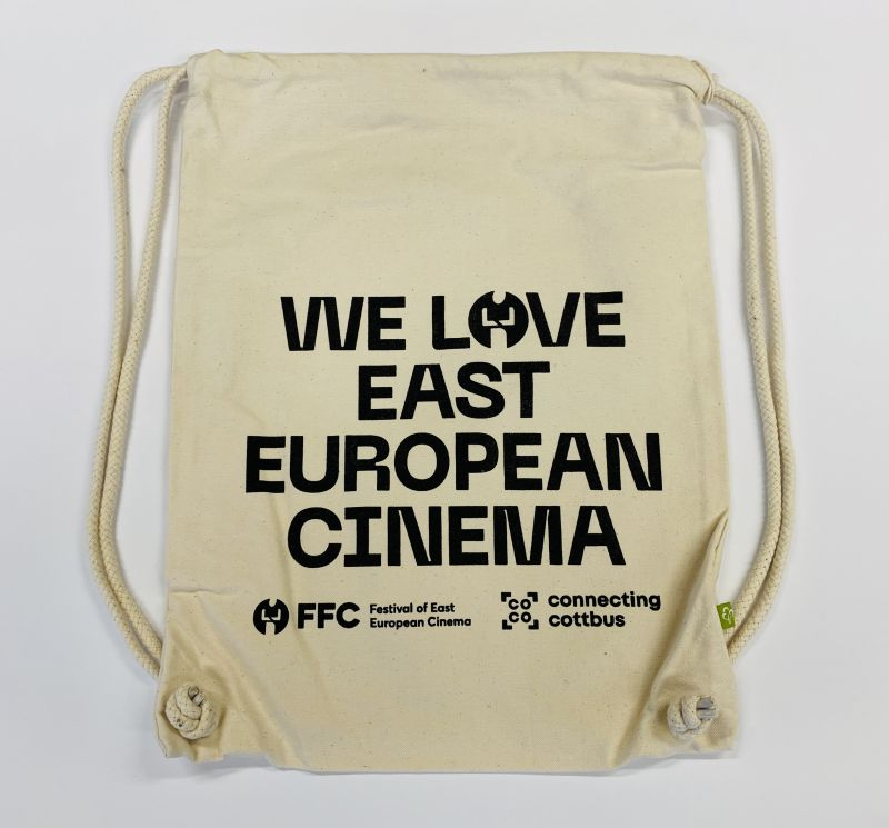 "Gymbag ""WE LOVE EAST EUROPEAN CINEMA"" - naturweiß"
